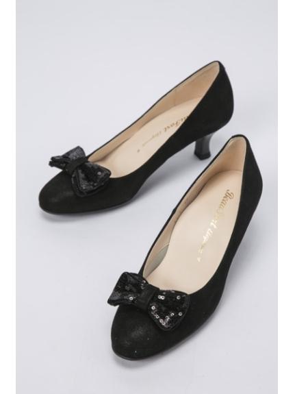 BeauFort (ビューフォート) 【BeauFort elegance】1Eリボンパンプス ブラック