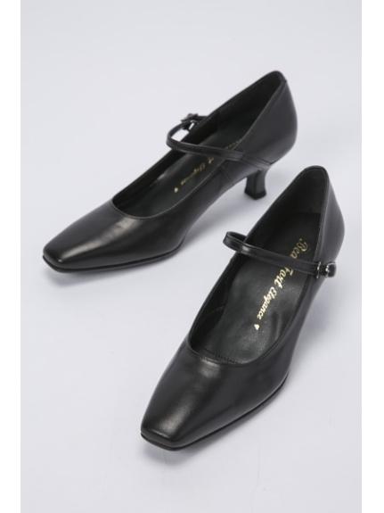 BeauFort (ビューフォート) 【BeauFort elegance】1Eストラップパンプス ブラック