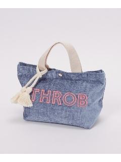 ロゴ刺繍入りミニトートバッグ