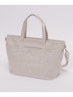 くま刺繍のマザーズバッグ
