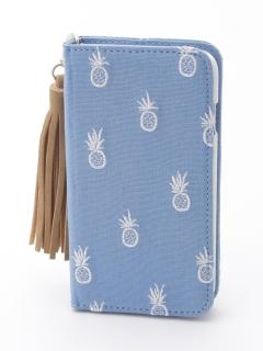 パイン刺繍iphoneケース