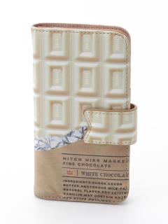 板チョコ手帳型iPhoneケース