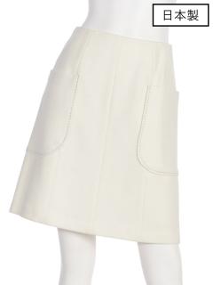 【日本製】アウトポケットセミタイトスカート