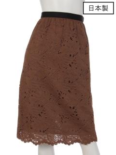 【日本製】リバーレーススカラカットスカート