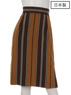 【日本製】インポートストライプタイトスカート