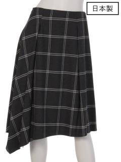 【日本製】チェックアシンメスカート