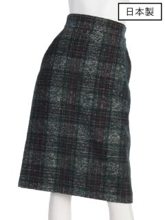 【日本製】インポートツィード調チェックタイトスカート