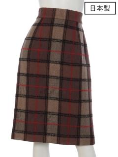 【日本製】ロービングチェックタイトスカート