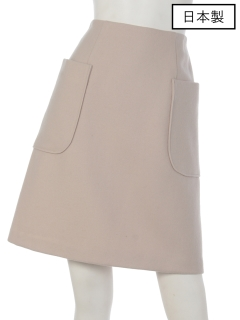 【日本製】ポケット付台形ミニスカート