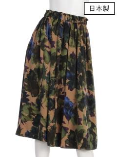 【日本製】オリジナルプリントギャザースカート