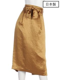 【日本製】サテンミモレタイトスカート