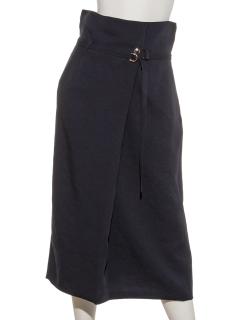 chouetteベルト付きラップ風スカート
