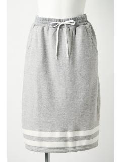 ラインプリントスカート
