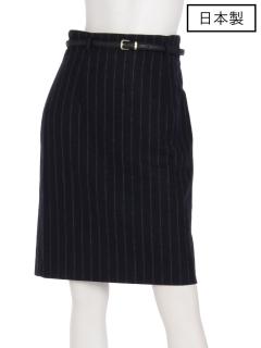 【日本製】ベルト付きタイトスカート