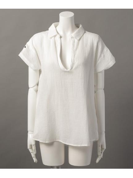uptight (アップタイト) S/Sスキッパーシャツ ホワイト