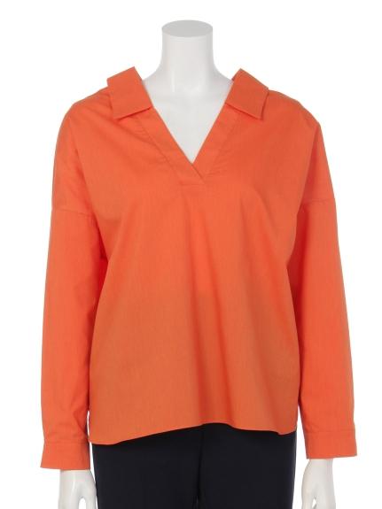 Brownie (ブラウニー) 両Vネックスキッパーシャツ オレンジ