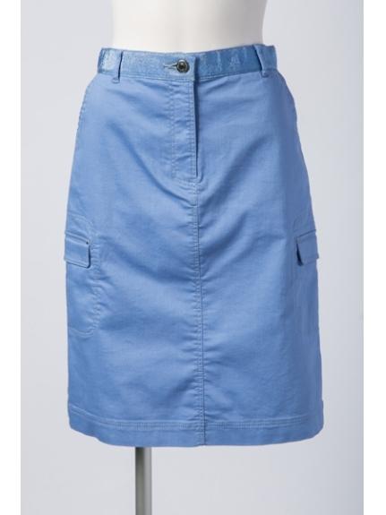 7-ID concept (セブンアイディーコンセプト) ショートスカート ブルー