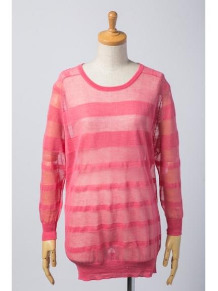 7-ID concept (セブンアイディーコンセプト) セーター ピンク