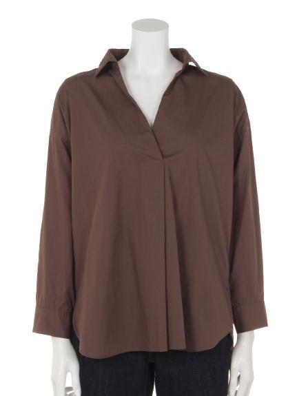 CLEAR IMPRESSION (クリアインプレッション) プランジングネックシャツ チャ