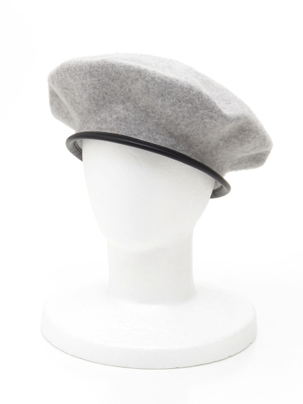CLEAR IMPRESSION (クリアインプレッション) パイピングベレー帽 グレー