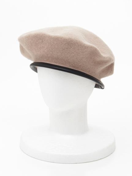 CLEAR IMPRESSION (クリアインプレッション) パイピングベレー帽 ベージュ