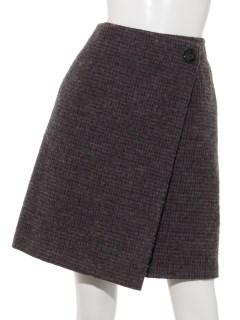 チェック柄ウールスカート