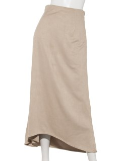 【CLEAR IMPRESSION musee】フェイクスエードナロースカート