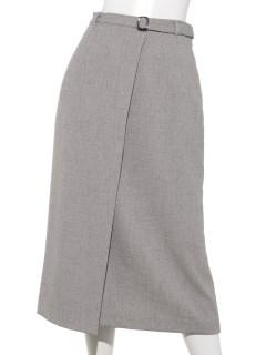 《洗えるセットアップ》サキソニーベルト付きスカート