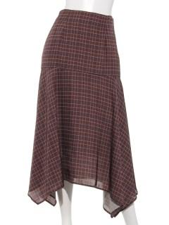【musee】オーバーチェックプリントスカート