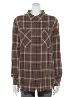 【musee】ブロックチェックシャツ