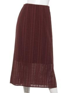 コットンレースタイトスカート