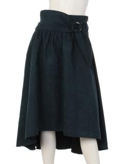 サークルバックルフレアスカート