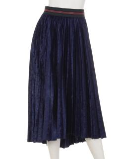 ベロアプリーツフレアスカート