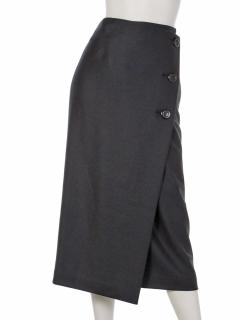 フロントボタンラップスカート