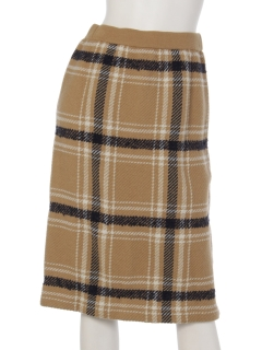タータンチェックニットスカート
