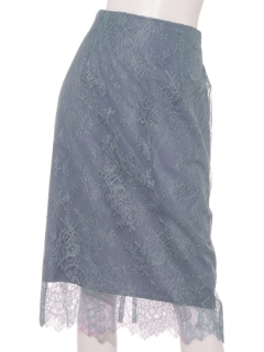 【Maglie White】レースタイトスカート