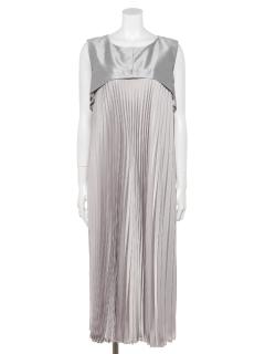 【M Maglie le cassetto】ドッキングプリーツドレス