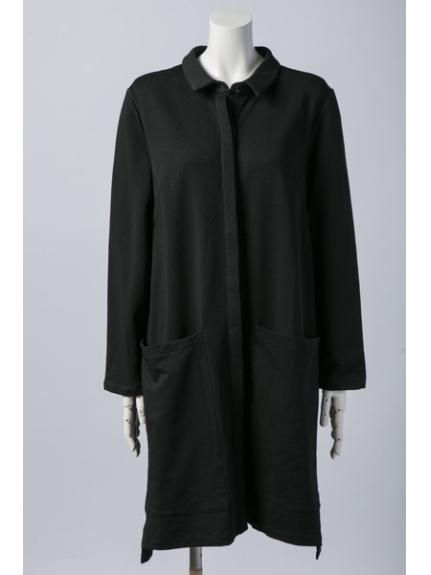 shou gong (ソーコン) ジャージーロングシャツ 黒