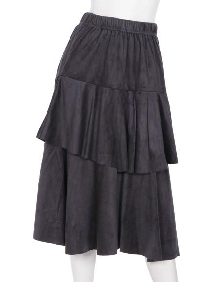 mimosalip (ミモザリップ) ティアードスカート グレー