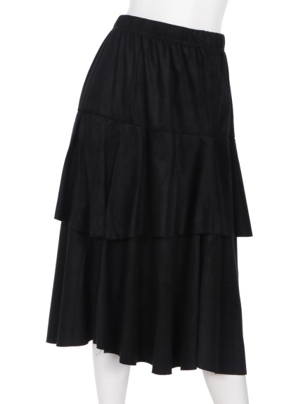 mimosalip (ミモザリップ) ティアードスカート クロ