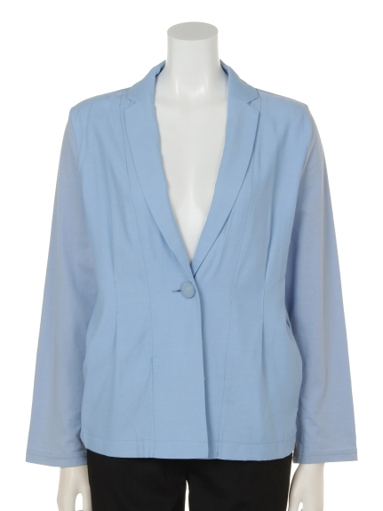 mimosalip (ミモザリップ) テーラー襟長袖JKT ブルー