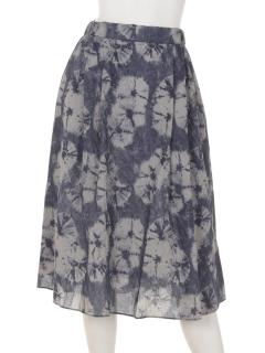ムラ染め風スカート