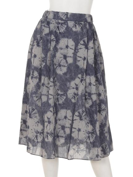 mimosalip (ミモザリップ) ムラ染め風スカート グレー