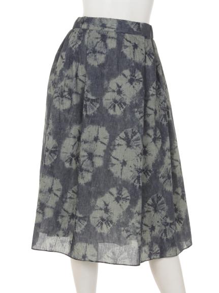 mimosalip (ミモザリップ) ムラ染め風スカート ネイビー