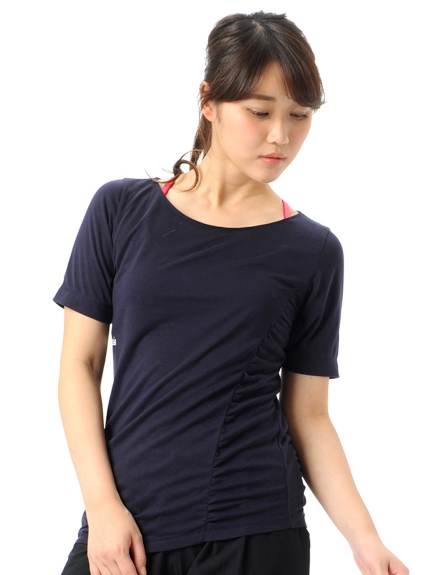 G-FIT (ジーフィット) デザインTシャツ ネイビー