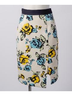 ストレッチフラワープリントスカート