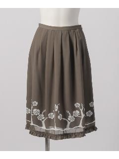 パネル花柄プリントスカート