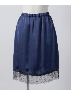 サテンレーススカート
