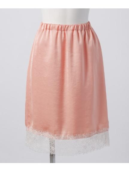 BANNER BARRET (バナーバレット) サテンレーススカート ピンク