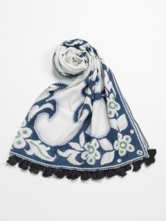 インドフラワー刺繍ストール